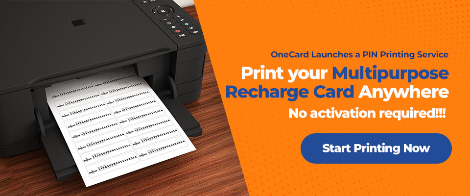 Print your Multipurpose Recharge Card wherever you are